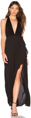 BCBGMAXAZRIA Deep V Gown $298 thestylecure.com