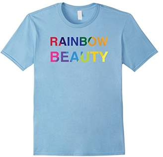 Rainbow Beauty T-Shirt - Colorful Bold Type