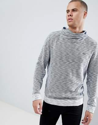 Esprit Funnel Neck Sweatshirt In Gray Marl