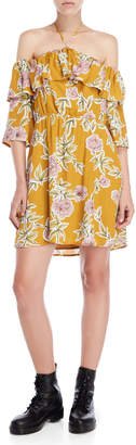 Cupcakes And Cashmere Fonda Off-the-Shoulder Floral Dress