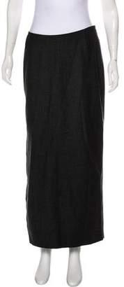 Burberry Wool-Blend Midi Skirt