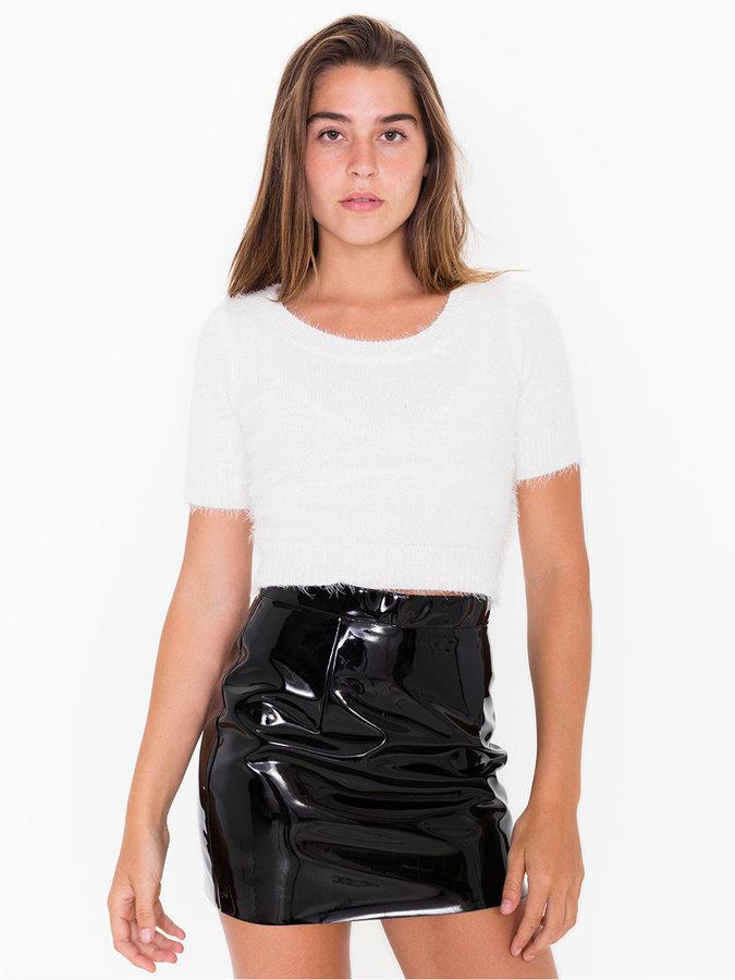 American Apparel Vinyl Mini Skirt