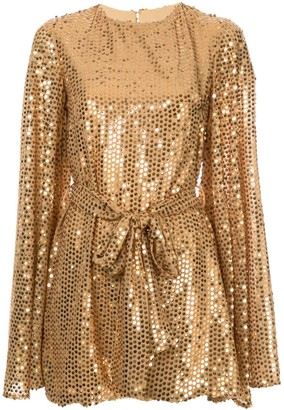 Caroline Constas sequinned mini dress
