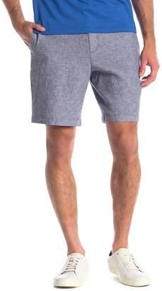 Original Penguin Linen Blend Solid Straight Shorts