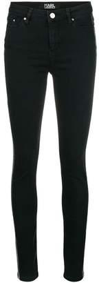Karl Lagerfeld skinny tuxedo stripe jeans