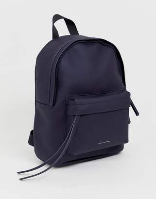 French Connection Nina logo backpack in recycled leather