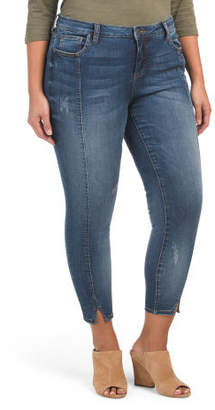 Plus Front Seam Skinny Ankle Jeans