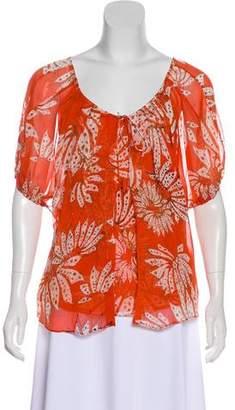 Diane von Furstenberg Layered Silk Top