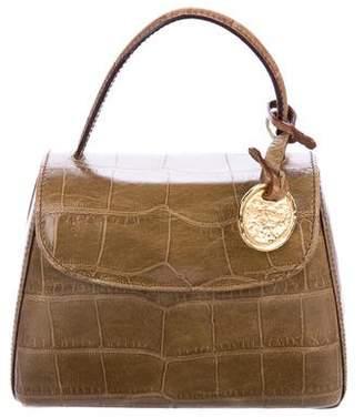Sonia Rykiel Embossed Leather Handle Bag