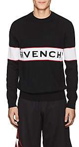 Givenchy Men's Logo-Knit Wool Sweater - Black