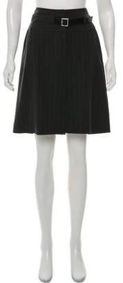 Dolce & Gabbana Belt-Accented Pinstripe Pencil Skirt