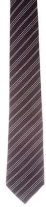 Christian Dior Striped Crepe Silk Tie purple Striped Crepe Silk Tie