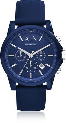 Armani Exchange Outerbanks Blue Silicone Men's Chronograph Watch