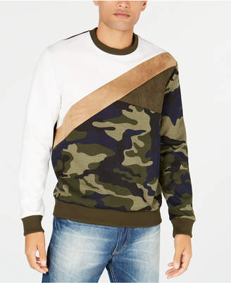 Sean John Men's Pattern Blocked Sweatshirt
