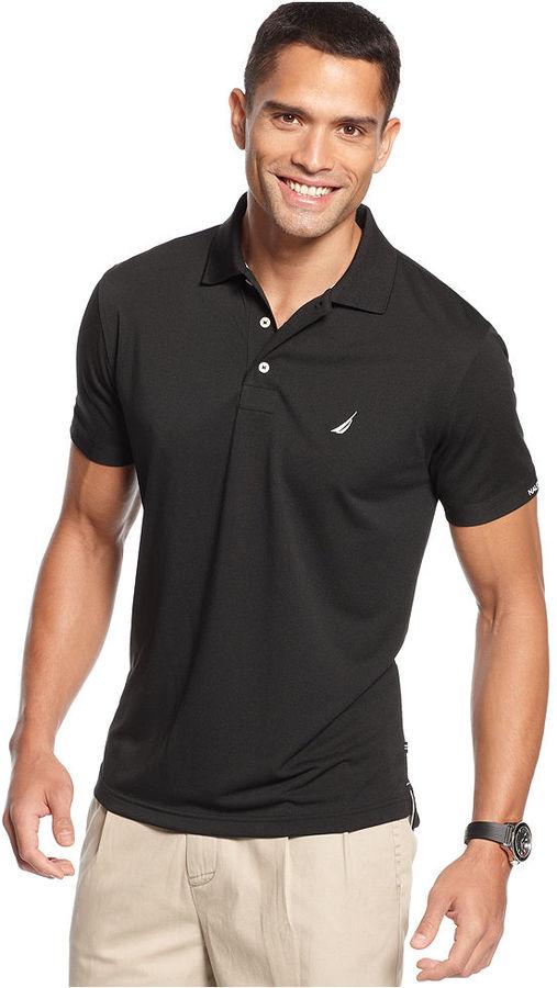 Nautica Shirt, Solid Tech Pique Polo Shirt