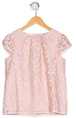 Milly Minis Girls' Lace Short Sleeve Top