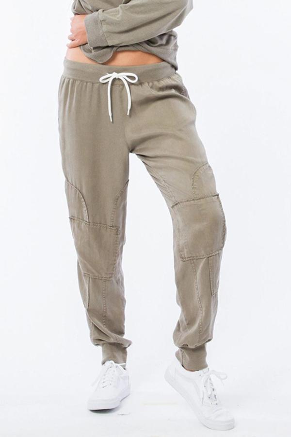 Monrow Patch Sweatpants Green