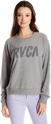 RVCA Junior's Jagged French Terry Raglan Sweatshirt