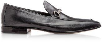 Moreschi Adelaide Black Kangaroo Leather Loafer Shoes