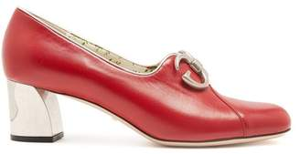 Gucci Biba Leather Pumps - Womens - Red