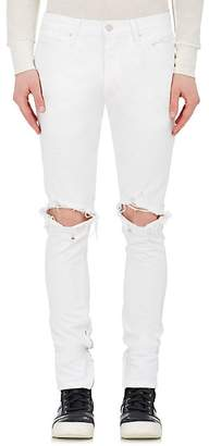 Fear Of God Men's Distressed Slim Jeans - White