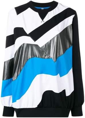 NO KA 'OI No Ka' Oi stripe detail sweatshirt