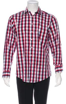 Thomas Pink Gingham Button-Up Shirt