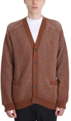 Lanvin Camel Grey Wool Cardigan