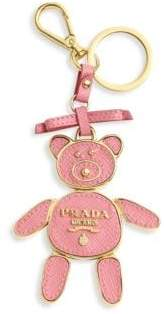 Prada Saffiano Leather Bear Keychain