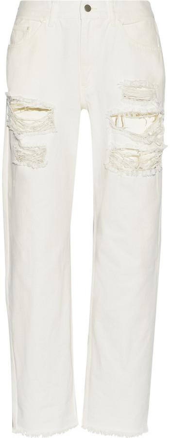 Marques'Almeida for Topshop Distressed high-rise boyfriend jeans