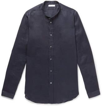 Boglioli Grandad-Collar Linen Shirt