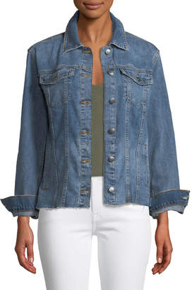 Joe's Jeans Heidi Denim Raw-Edge Jacket
