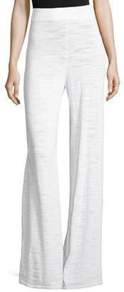 Minnie Rose Pull-On Palazzo Pants, White $175 thestylecure.com