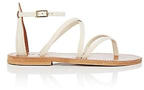 K. Jacques Women's Epicure Leather Sandals-White