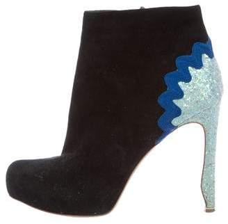 Nicholas Kirkwood Suede Embellished Ankle Boots