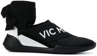Vic Matié ankle-tied logo sneakers