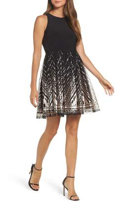 Vince Camuto Sequin Fit & Flare Cocktail Dress