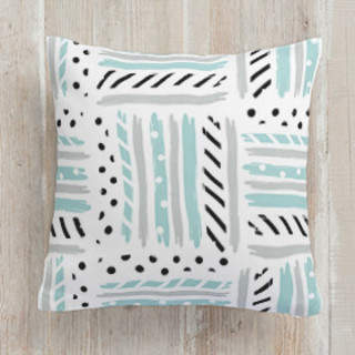 Stacked Stripes Square Pillow