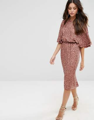 ASOS Sequin Kimono Midi Dress $88 thestylecure.com