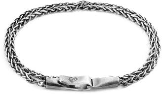 ANCHOR & CREW - Silver Staysail Double Sail Chain Bracelet