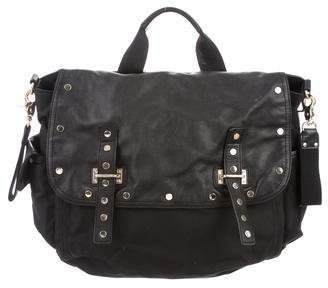 Rebecca Minkoff Leather-Trimmed Diaper Bag