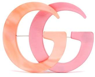 Gucci Gg Resin Brooch - Womens - Pink