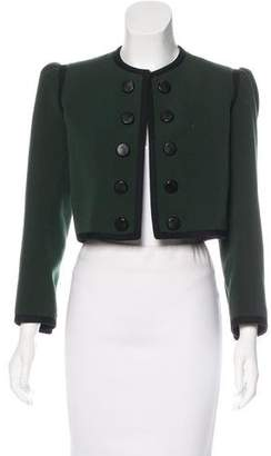 Saint Laurent Double-Breasted Cropped Jacket