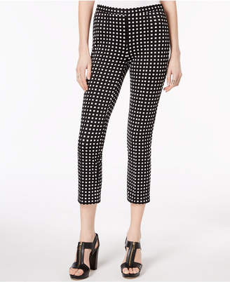 Michael Kors Gingham Ankle Pants, Created for Macy's