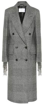 Max Mara Laser fringed wool coat