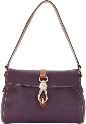 At Qvc Dooney Bourke Pebble Leather Libby Shoulder Bag