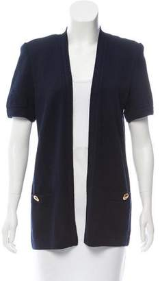 St. John Short Sleeve Open Front Cardigan