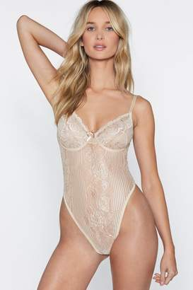 677ca5a714605 Nasty Gal Lace Orders Cupped Bodysuit