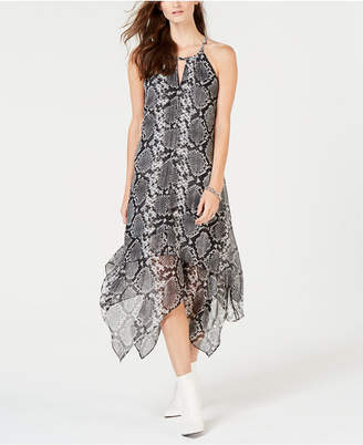 INC International Concepts I.N.C. Printed Handkerchief-Hem Dress, Created for Macy's
