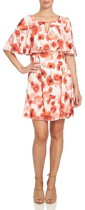 Women's Cece Floating Poppies Capelet Dress $129 thestylecure.com